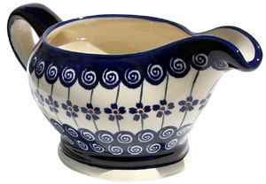 Polish Pottery Gravy Boat 16 Oz., Classic Design 1085a