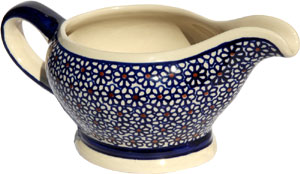 Polish Pottery Gravy Boat 16 Oz., Classic Design 120