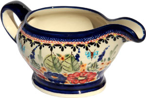 Polish Pottery Gravy Boat 16 Oz., Unikat Signature 149 Art