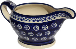 Polish Pottery Gravy Boat 16 Oz., Classic Design 174a