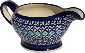 Polish Pottery Gravy Boat 16 Oz., Classic Design 217a