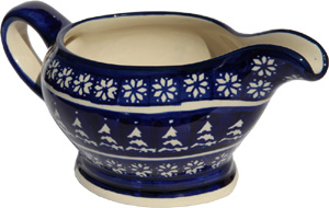 Polish Pottery Gravy Boat 16 Oz., Classic Design 243a