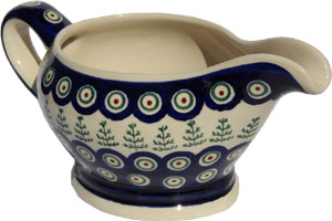 Polish Pottery Gravy Boat 16 Oz., Classic Design 312