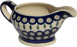 Polish Pottery Gravy Boat 16 Oz., Classic Design 56