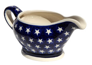 Polish Pottery Gravy Boat 16 Oz., Classic Design 82