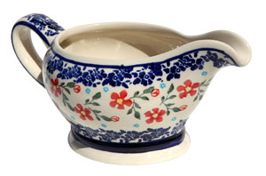 Polish Pottery Gravy Boat 16 Oz., Classic Design 964