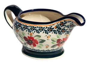 Polish Pottery Gravy Boat 16 Oz., Unikat Design DU116