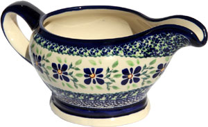 Polish Pottery Gravy Boat 16 Oz., Unikat Design DU121