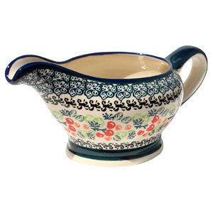 Polish Pottery Gravy Boat 16 Oz.