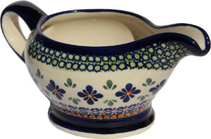 Polish Pottery Gravy Boat 16 Oz., Unikat Design DU60