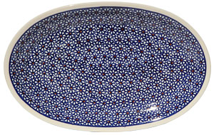 Polish Pottery Medium Oval Platter, Classic Design 120