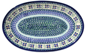 Polish Pottery Large Oval Platter, Unikat Design DU121