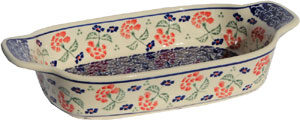 Polish Pottery Rectangular Serving Dish, Classic Pattern 963