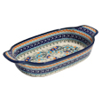 Polish Pottery Rectangular Serving Dish, Unikat Pattern DU157