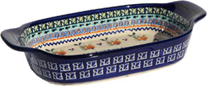 Polish Pottery Rectangular Serving Dish