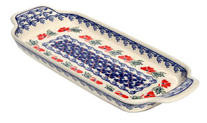 Polish Pottery Bread Tray, Classic Pattern 1115