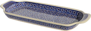 Polish Pottery Bread Tray, Classic Pattern 120