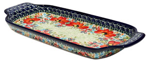 Polish Pottery Bread Tray, Unikat Signature 296 Art