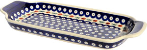 Polish Pottery Bread Tray, Classic Pattern 41