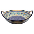 Polish Pottery Large Serving Bowl with Handles