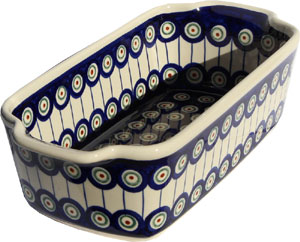 Polish Pottery Loaf Baker with Handles