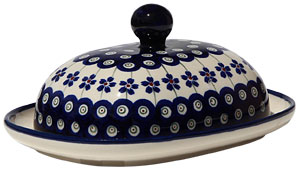 Polish Pottery Butter Dish
