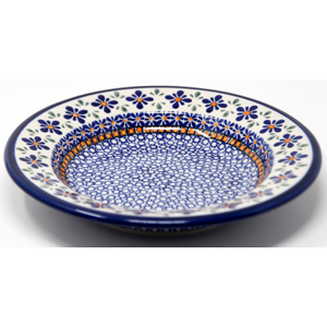 Pasta Bowl 9.5 Inch Diameter in Mosaic Flower Pattern