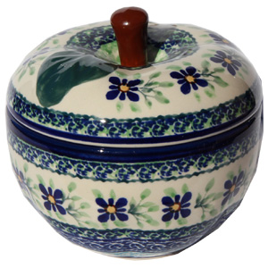 Polish Pottery Apple Baker