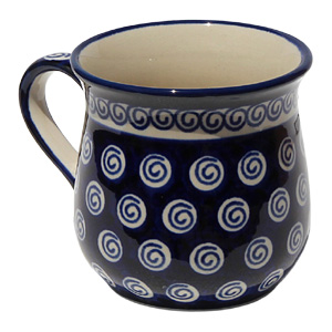 Polish Pottery Lady Mug 8 Oz.