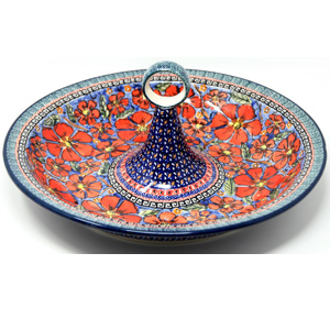 Fruit Bowl Polish Pottery Unikat Pattern painted by Agata Rusiecka