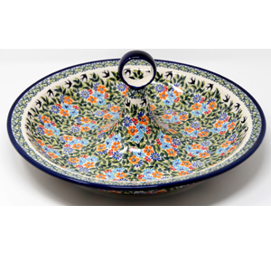 Fruit Bowl from Zaklady Boleslawiec Polish Pottery in DU182 Pattern