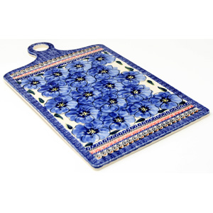 Polish Pottery Extra Large Cutting Board in Unikat Regal Bouquet Pattern from Zaklady