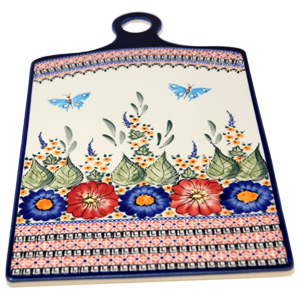 Polish Pottery Extra Large Cutting Board Unikat Signature Pattern 149 Art