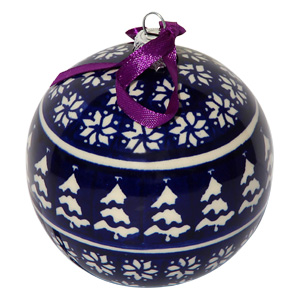 Polish Pottery Christmas Ornament