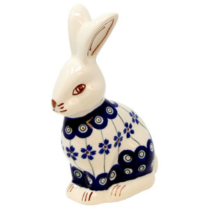 Bunny Rabbit in Floral Peacock, Height: 6.25 Inch