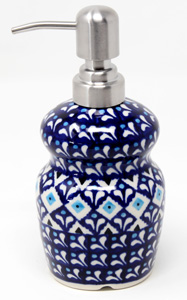 Polish Pottery 11 Oz. Soap Dispenser
