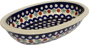 Polish Pottery Oval Serving Bowl