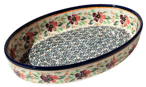 Polish Pottery Oval Baker