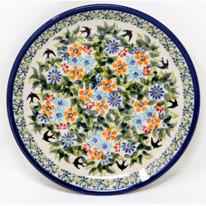 Dessert Plate in Polish Pottery Design DU182 from Zaklady 7.5