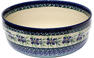 Polish Pottery Bowl 8 Inch