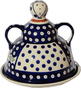Polish Pottery Cheese Lady