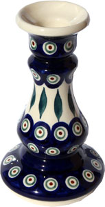 Polish Pottery Candlestick Holder