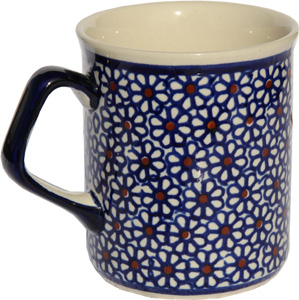 Polish Pottery Coffee Mug 8.5 oz., Classic Design 120