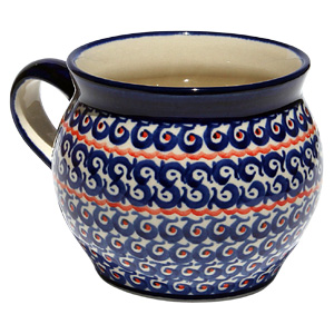 Polish Pottery Bubble Mug  16 oz.