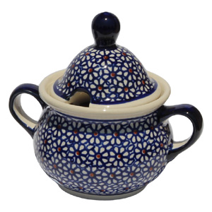 Polish Pottery Sugar Bowl