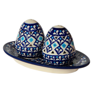 Polish Pottery Salt and Pepper Shakers