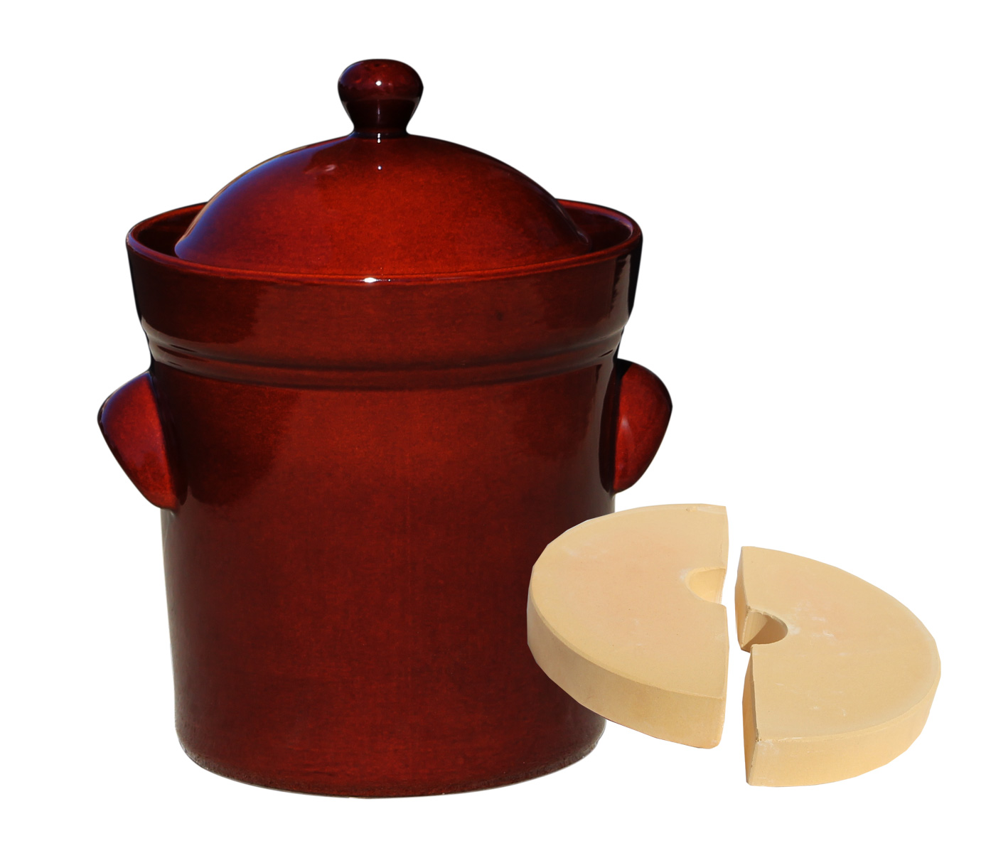 Fermenting Crock Pot 10 liter / 42 Cups - PRESSING STONES INCLUDED
