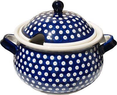 Polish Pottery Soup Tureen, Classic Pattern 42