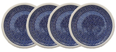 Polish Pottery Set of 4 Dinner Plates  9.5 Inch, Classic Design 120