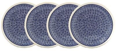 Polish Pottery Set of 4 Dinner Plates, Classic Design 120